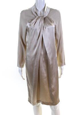 Love Moschino Womens Long Sleeve Dress Ivory Size 8