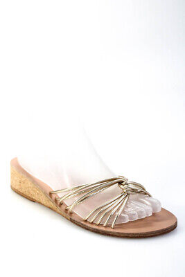 Ancient Greek Sandals Womesn Strappy Gold Leather Sandals Shoes Size EUR 39