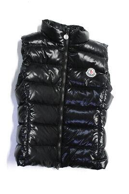 Moncler Kids Zip Up Down Puffer Vest Black Size 10