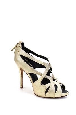 Giuseppe Zanotti Design Womens High Heel Platform Peep Toe Pumps Gold Size 40 10