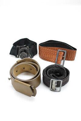 Jill Stuart Womens Wide Waist Belt Black Brown Lot 4