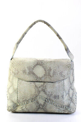 Nancy Gonzalez Python Snakeskin Satchel Handbag Blue Green