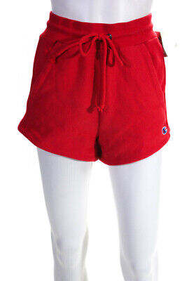 Champion X HVN Womens Sweat Shorts Red Sparks Cotton Size Small