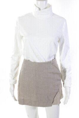 CF. Goldman Womens Mock Neck Long Sleeve Blouse Mini Skirt White Size 10 4 Lot 2