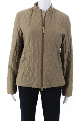 Moncler Women's Zip Up Jacket Beige Size 3