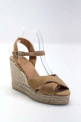 Castaner Womens Blaudell Espadrille Wedge Sandals Tostado Brown Size 39 9