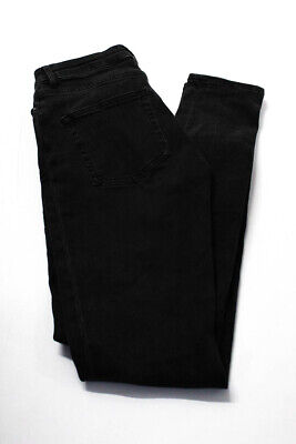 ACNE Studios Womens Casual Mid Rise Skinny Slim Jeans Pants Black Cotton Size 26