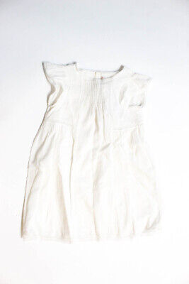 Bonpoint Childrens Girls Cotton Angelina Dress White Size 3