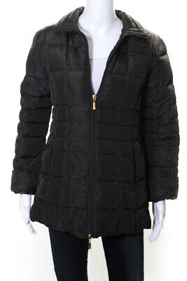 Moncler Women's Zip Up Puffer Collared Jacket Brown Size 1