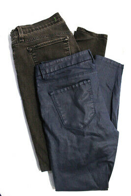 - J Brand Zara Woman Womens Skinny Jeans Blue Brown Cotton Size 31 10 Lot 2