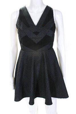 Keepsake the Label Womens V-Neck Sleeveless Above Knee Dress Black Size XS