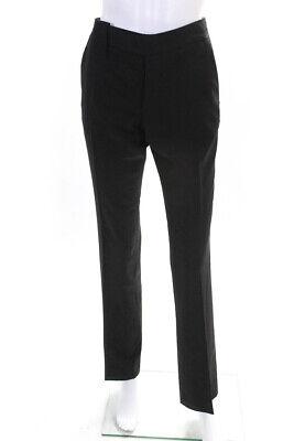 Gucci Womens Button Flat Front Dress Pants Brown Size IT 40