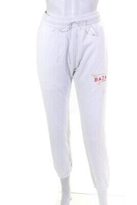 Baja East Womens Baja Burger Sweatpants White Size 0
