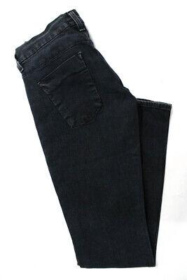 Hudson Women's Hook Closure Skinny Jeans Cotton Black Size 26