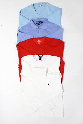 Lacoste Polo Golf Ralph Lauren Mens Polo Sweater Blue White Red 6 L XL Lot 5