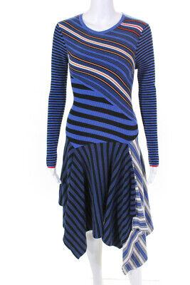 Opening Ceremony Womens Striped Long Sleeve Dress Size Medium 11299724