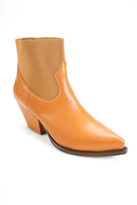 Buttero Womens Elise Booties Hibcuoio Brown Leather Size 40 10