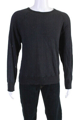 ACNE Studios Mens Long Sleeve Crew Neck Casual Sweatshirt Gray Cotton Size XL