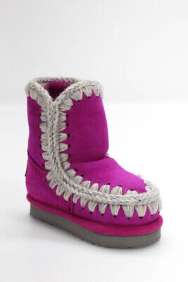 Mou Girls Sheepskin Wool Eskimo Boot Rose Size 22 European / 6.5