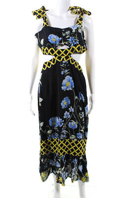 Alice McCALL Womens Flower Girl Midi Dress Black Size 10 12288926