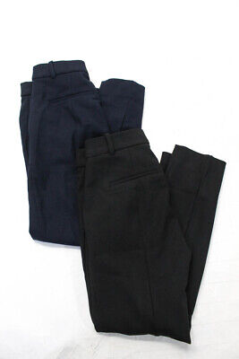 J Crew Womens Cameron High Rise Cropped Trouser Pants Blue Black Size 0P Lot 2