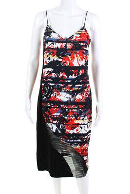 Sachin & Babi Womens Abstract Print Maxi Dress Multi Colored Size 2