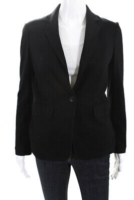 Rag & Bone Womens V Neck Collared Long Sleeve Blazer Black Wool Size 00