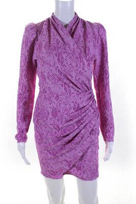Stine Goya Womens Clem Snakeskin Print Mini Dress Pink Size Extra Small