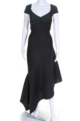 Opening Ceremony Womens Spongy Stripe Lotus Dress Black Size Large 11393585