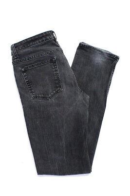 Acne Jeans Womens Straight Leg Jeans Black Cotton Size 29/32