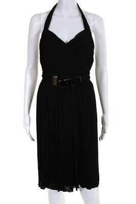 Versace Women's Halter Shift Dress Black Size 40