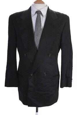 Giorgio Armani Mens Cashmere Double Breasted Blazer Black Size EUR 50 Regular