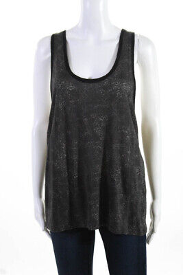IRO Womens Sleeveless Scoop Neck Knit Tank Top Blouse Gray Size 2
