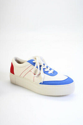 Rejina Pyo Womens Bailey 30mm Sneakers Natural Blue Red Size 38 8 LL19LL