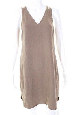 Polo Ralph Lauren Womens Sleeveless V Neck Shift Dress Beige Size 2