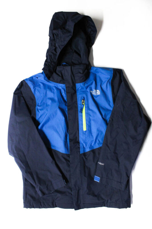 The North Face Boys Hooded Zip Up Windbreaker Jacket Blue Size 10