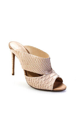 Alexandre Birman Womens Embossed Leather Sandal Stiletto Heels Pink Size 38 8
