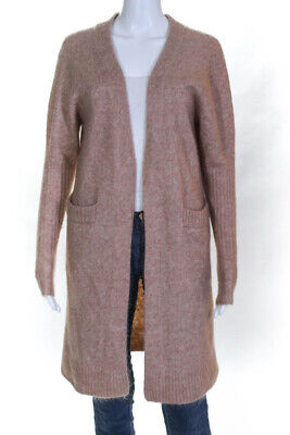 ACNE Studios Womens Mohair Cardigan Sweater Beige Size Extra Extra Small