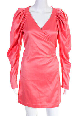 ROTATE Womens Number 31 Wrap Dress Shell Pink Size EUR 38