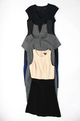 Ann Taylor Womens Color Block Sleeveless Sheath Dress Size 0 0P Lot 4