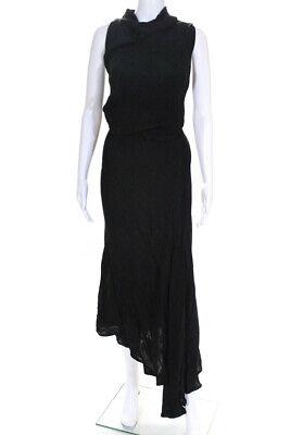 Acler Womens Cowl Asymmetric Hem Dress Black Size 6 12722424