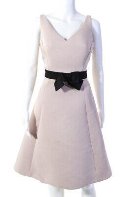 Kate Spade New York Womens Cameo Bow A Line V Neck Dress Pink Size 6 11011067