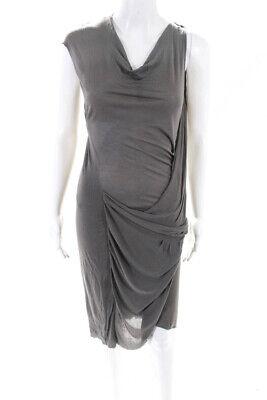 Helmut Lang Women's Sleeveless Shift Dress Gray Size Small