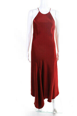 Alexis Womens Spaghetti Strap Sleeveless Luicy Gown Rust Red Size Medium