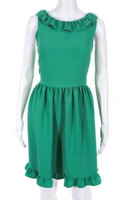 Kate Spade New York Women's Beryl Green Ruffle Dress Green Size 14 10626507