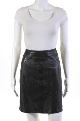 Vakko Sport Womens A-Line Above Knee Casual Skirt Brown Leather Size 8