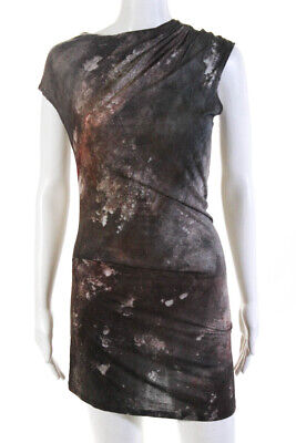 Helmut Lang  Womens Sleeveless Dress Green Rust Size Extra Small