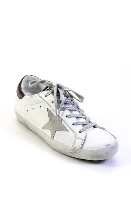 Golden Goose Deluxe Brand Womens Lace Up Low Top Sneakers White Size EUR 38
