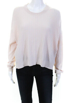 ACNE Studios Women's Crew Neck Sweater Cotton Pink Size Extra Small