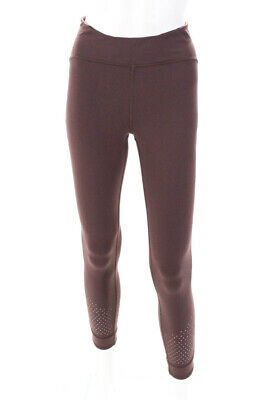 Lululemon  Womens Athletic Stretch Fit  Leggings Pants Dark Purple  Size Small